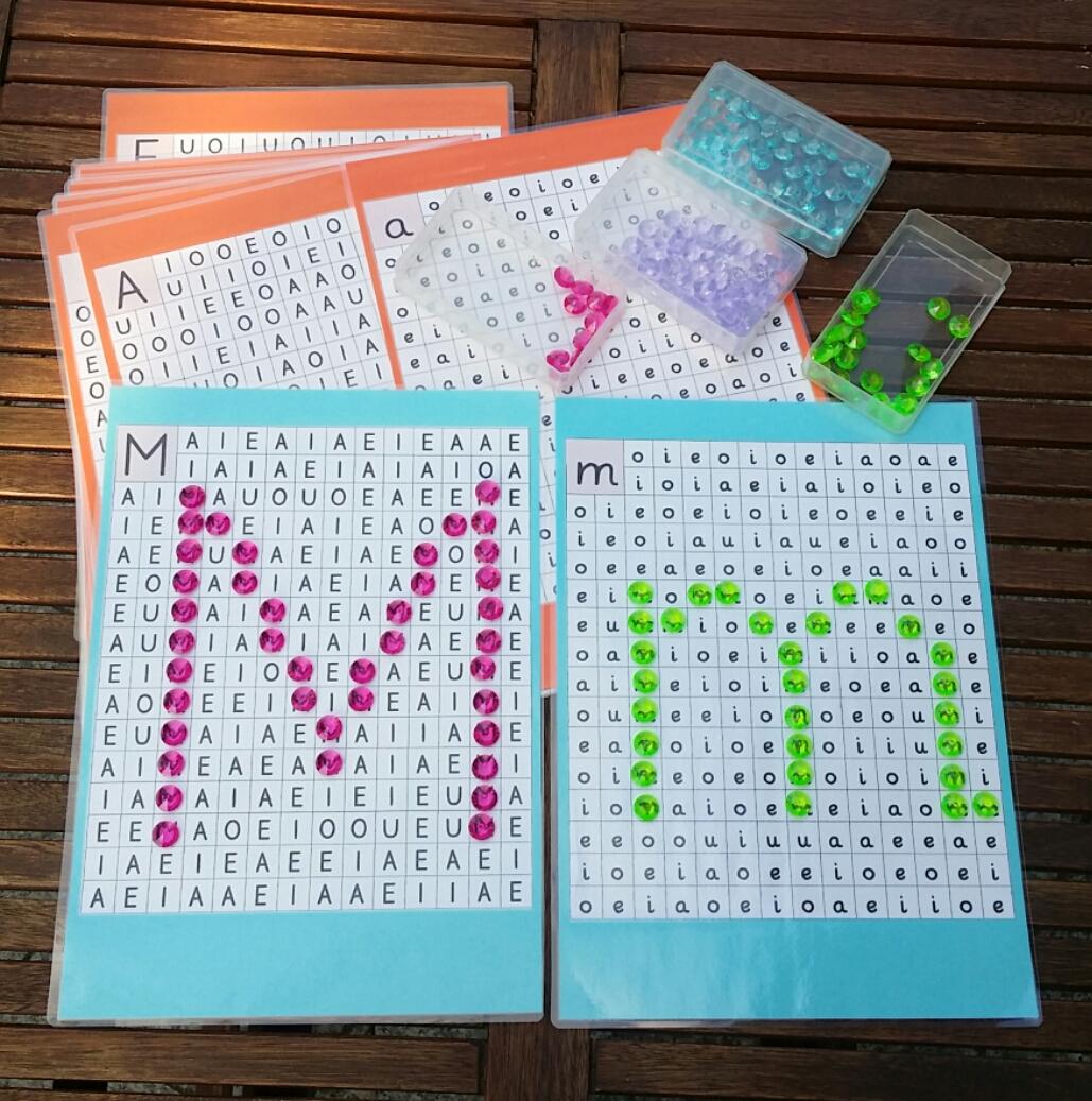 Buchstaben Mit Muggelsteinen Legen