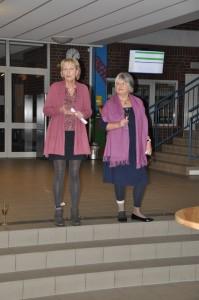 Frau Brand und Frau Fabiunke
