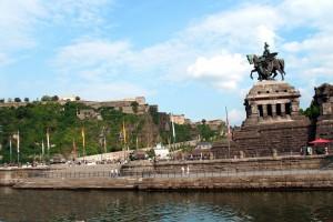 Ansichten von Koblenz _ Deutsches Eck _3